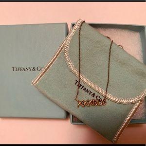 Tiffany & Co xoxo necklace 925 silver pre own box